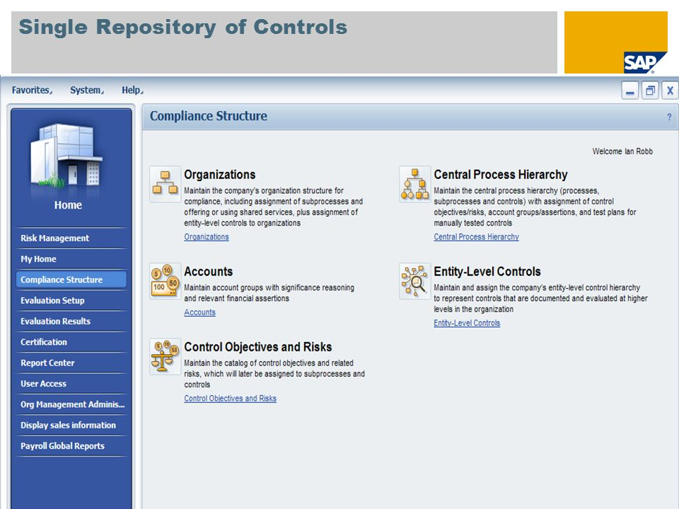 Single Repository of Controls