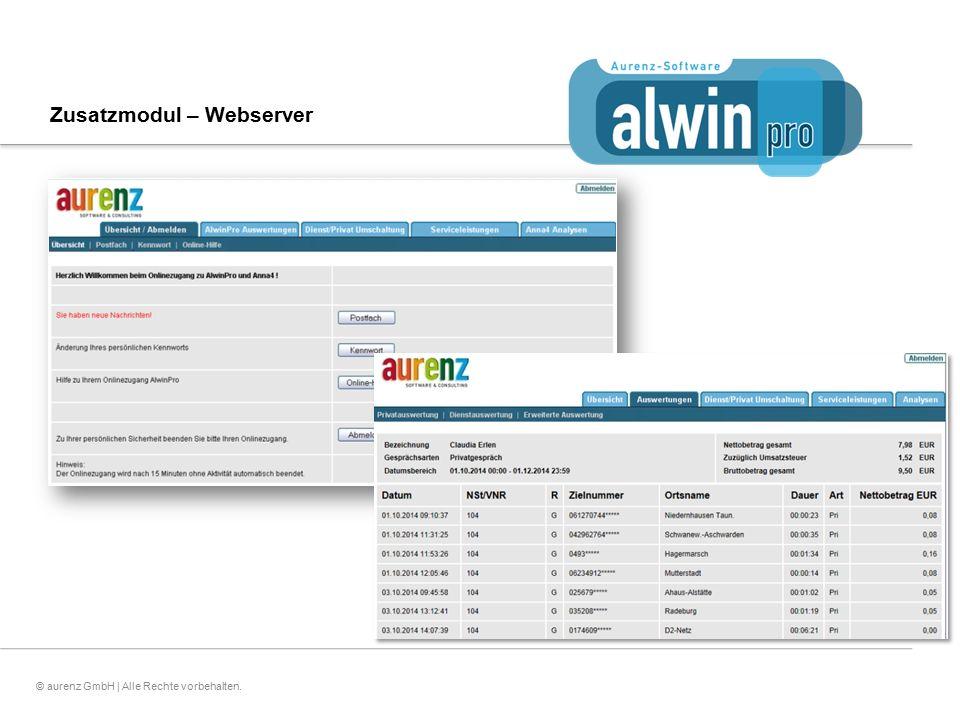 Zusatzmodul – Webserver