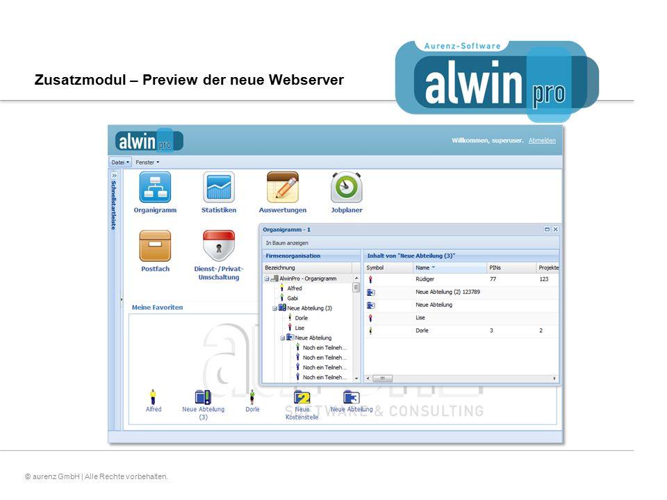 Zusatzmodul – Preview der neue Webserver