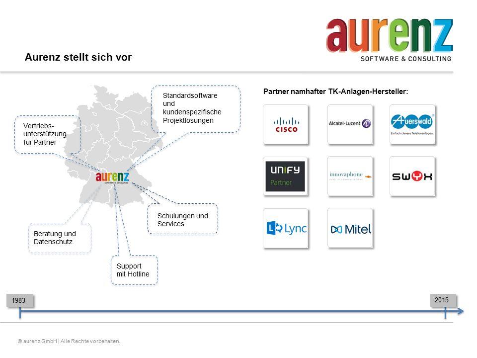 Aurenz stellt sich vor Partner namhafter TK-Anlagen-Hersteller: