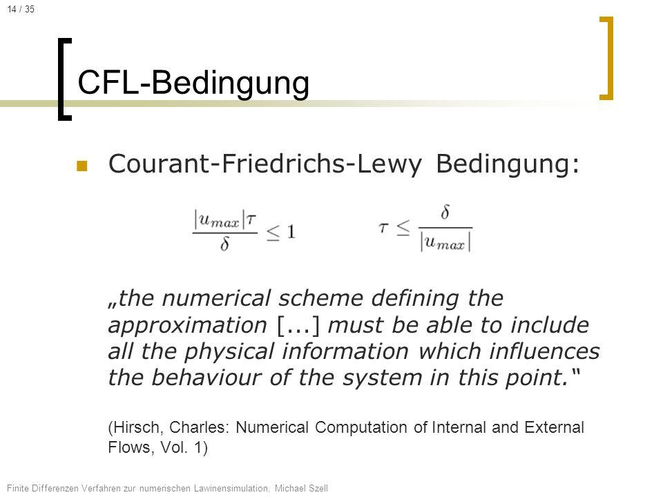 14 / 35 CFL-Bedingung.