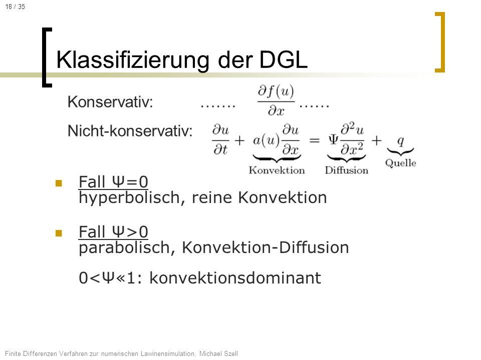 Klassifizierung der DGL