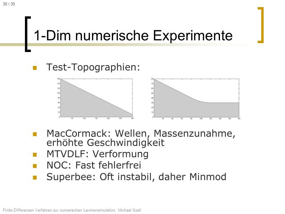 1-Dim numerische Experimente
