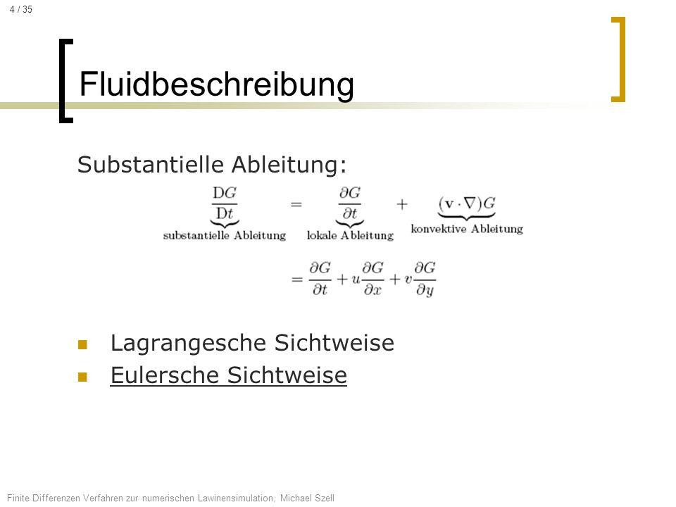 Fluidbeschreibung Substantielle Ableitung: Lagrangesche Sichtweise