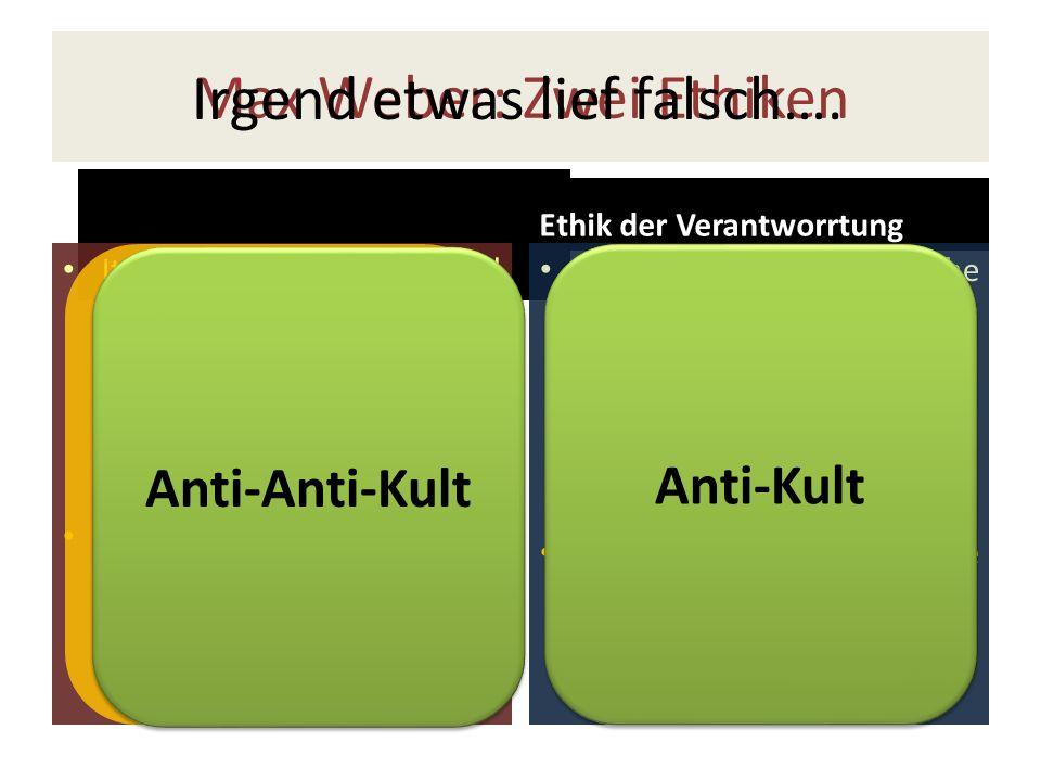 Max Weber: Zwei Ethiken