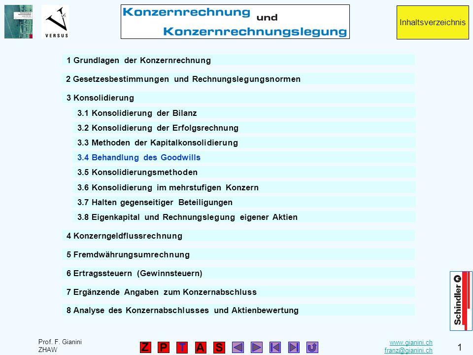 Inhaltsverzeichnis 1 Grundlagen der Konzernrechnung. 2 Gesetzesbestimmungen und Rechnungslegungsnormen.
