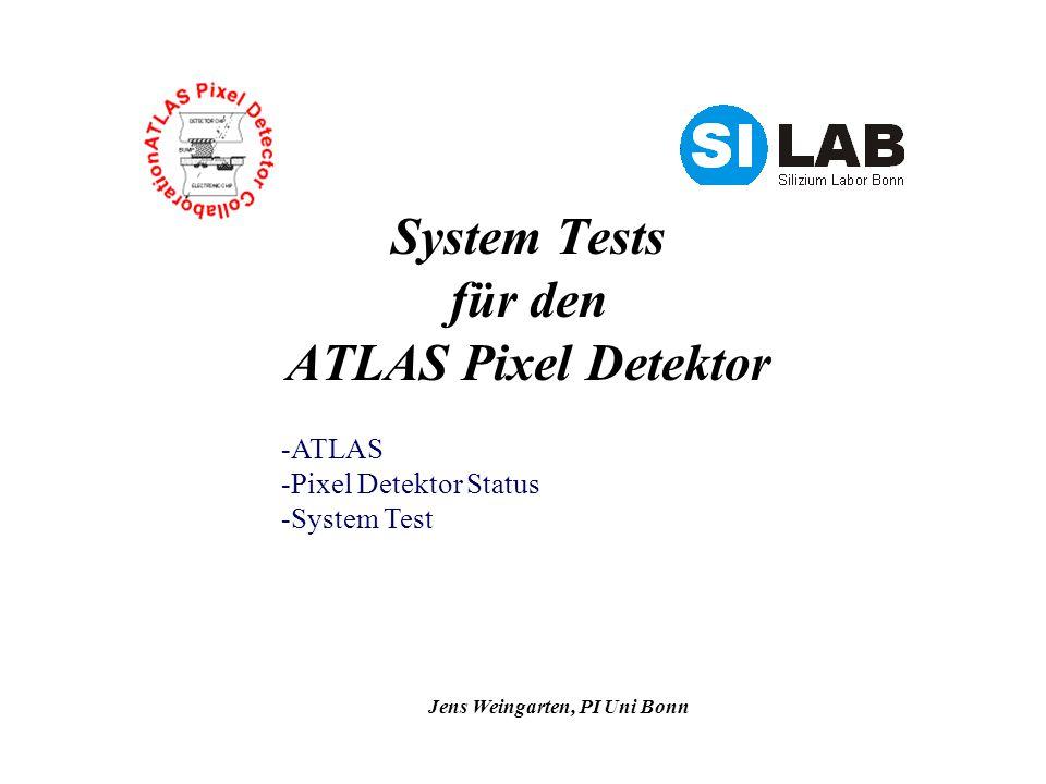 System Tests für den ATLAS Pixel Detektor