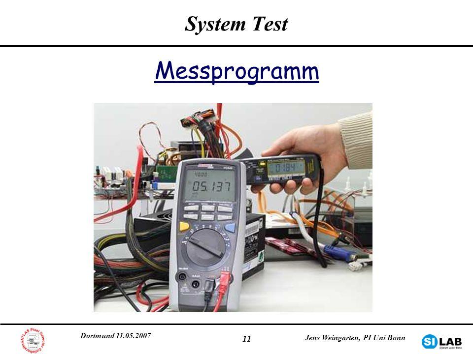 Messprogramm System Test Dortmund 11.05.2007