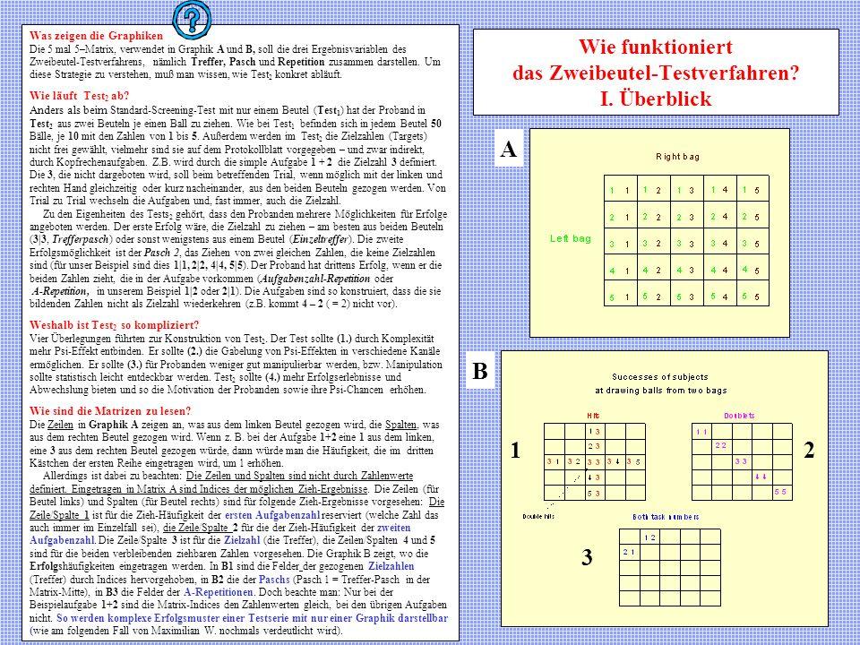 Wie funktioniert das Zweibeutel-Testverfahren I. Überblick