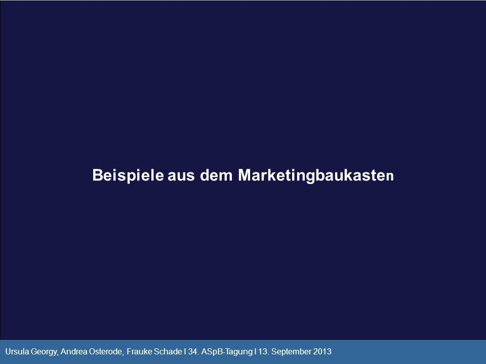 Beispiele aus dem Marketingbaukasten
