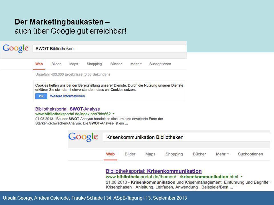 Der Marketingbaukasten – auch über Google gut erreichbar!
