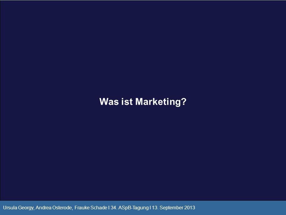 Was ist Marketing. Ursula Georgy, Andrea Osterode, Frauke Schade I 34.