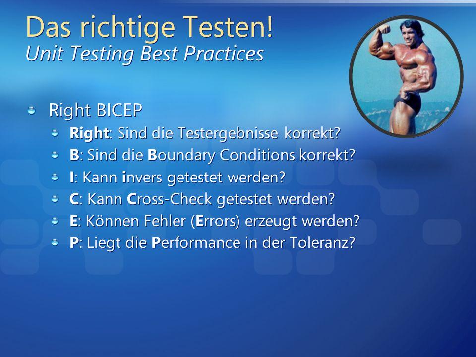 Das richtige Testen! Unit Testing Best Practices