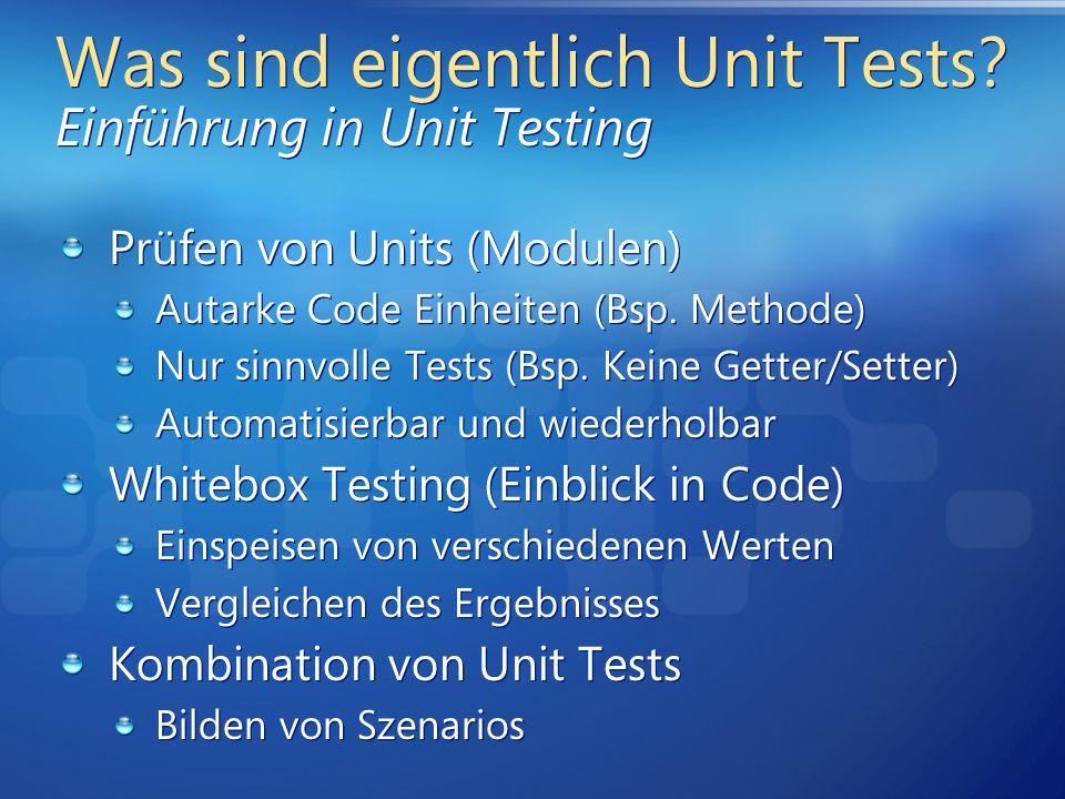 Was sind eigentlich Unit Tests Einführung in Unit Testing