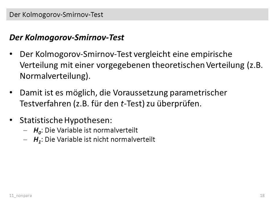 Der Kolmogorov-Smirnov-Test