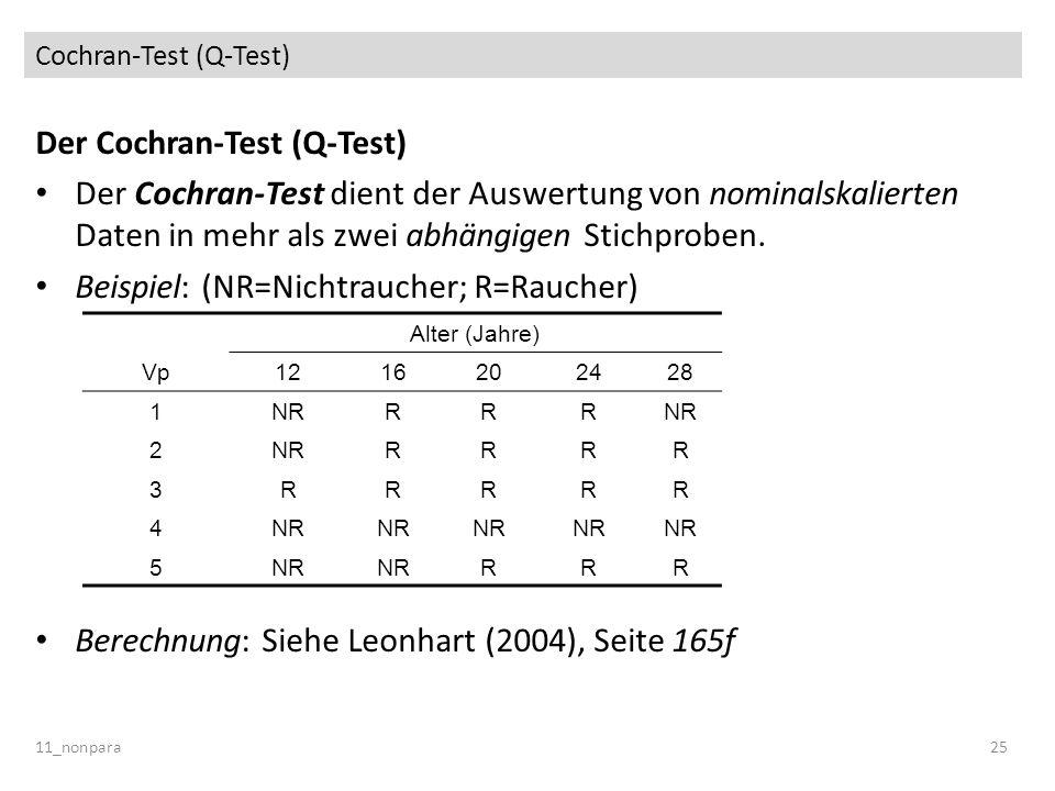 Cochran-Test (Q-Test)