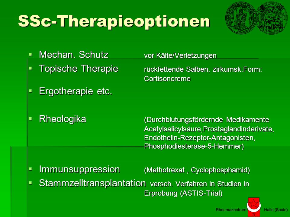 SSc-Therapieoptionen