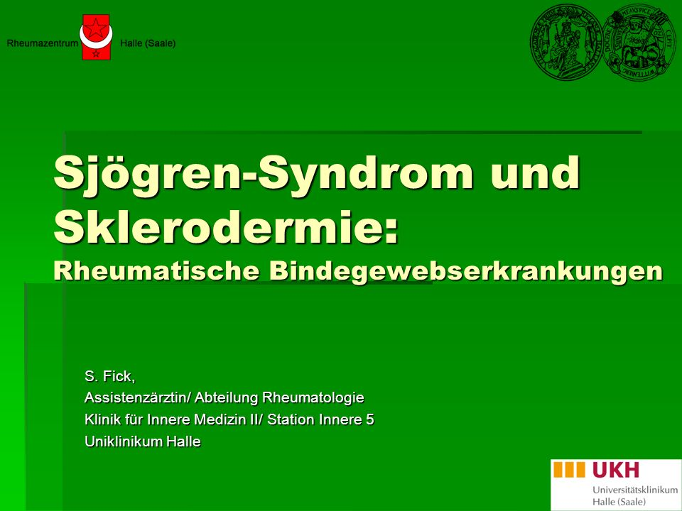 Sjögren-Syndrom und Sklerodermie: Rheumatische Bindegewebserkrankungen