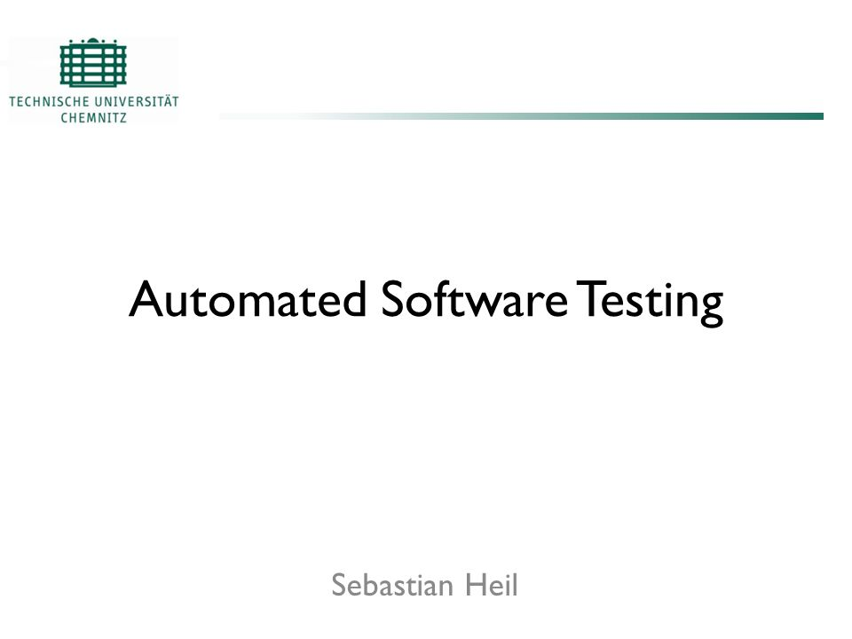 Automated Software Testing