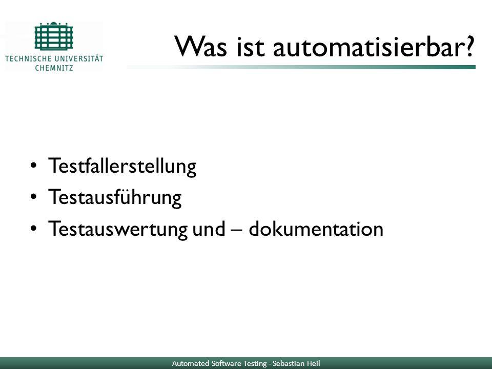 Was ist automatisierbar