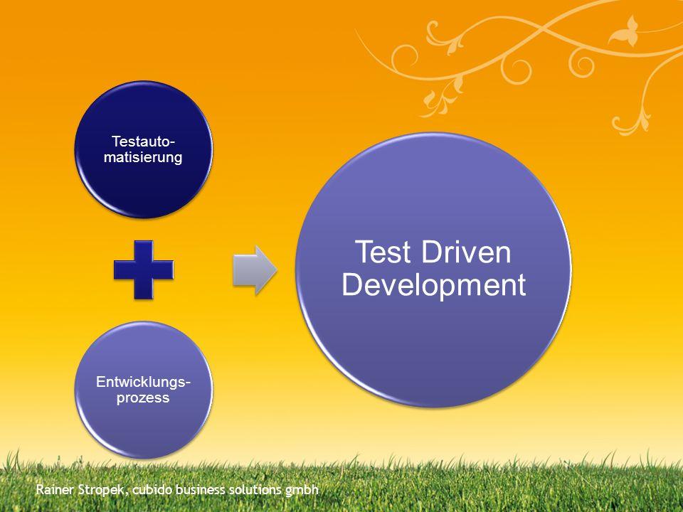 Testauto-matisierung Entwicklungs-prozess