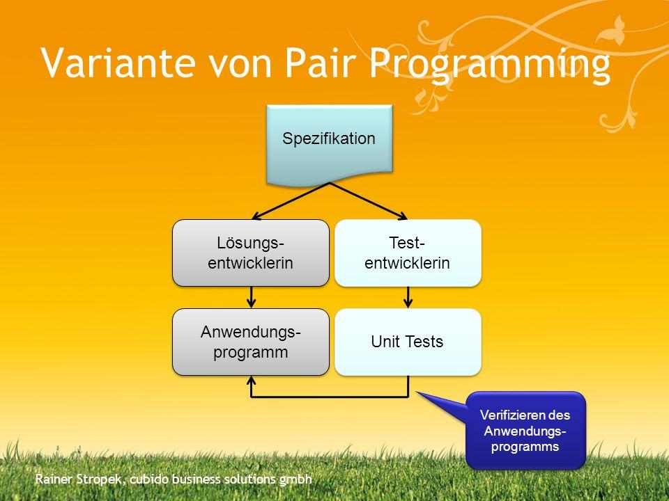 Variante von Pair Programming