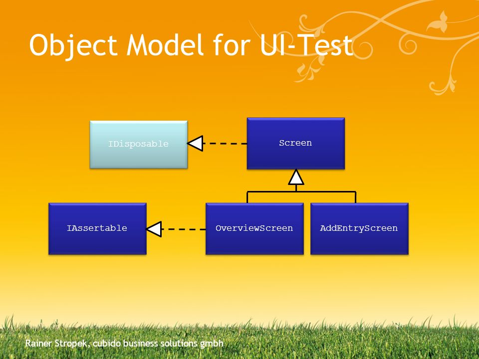 Object Model for UI-Test