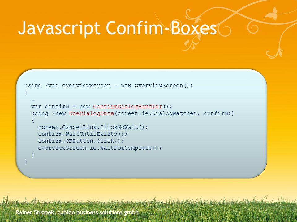 Javascript Confim-Boxes