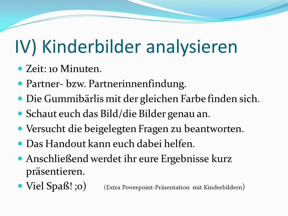 IV) Kinderbilder analysieren