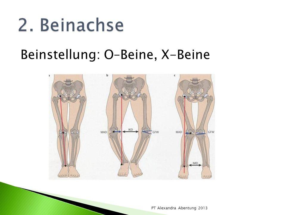 2. Beinachse Beinstellung: O–Beine, X-Beine PT Alexandra Abentung 2013
