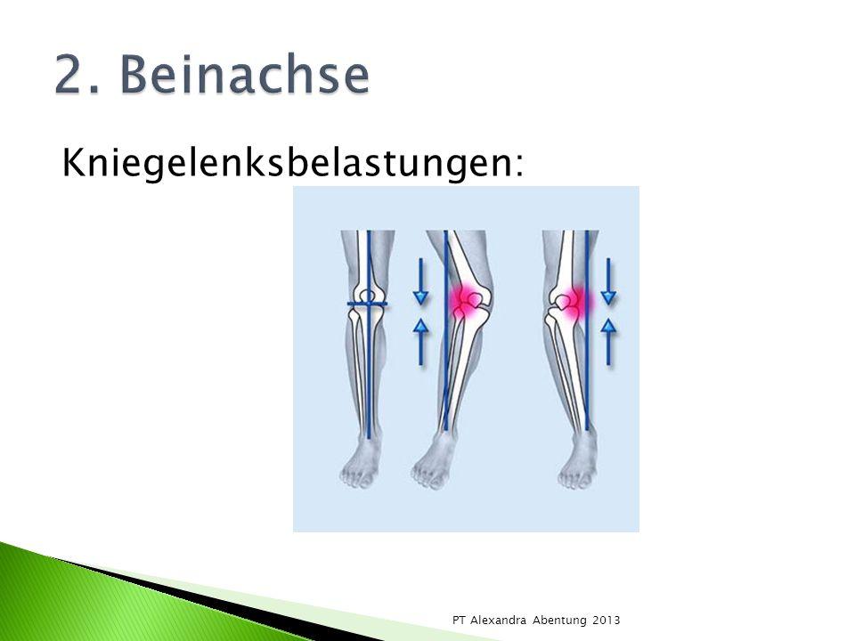 2. Beinachse Kniegelenksbelastungen: PT Alexandra Abentung 2013