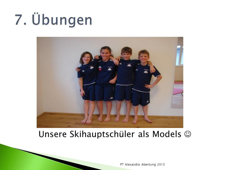 Unsere Skihauptschüler als Models 