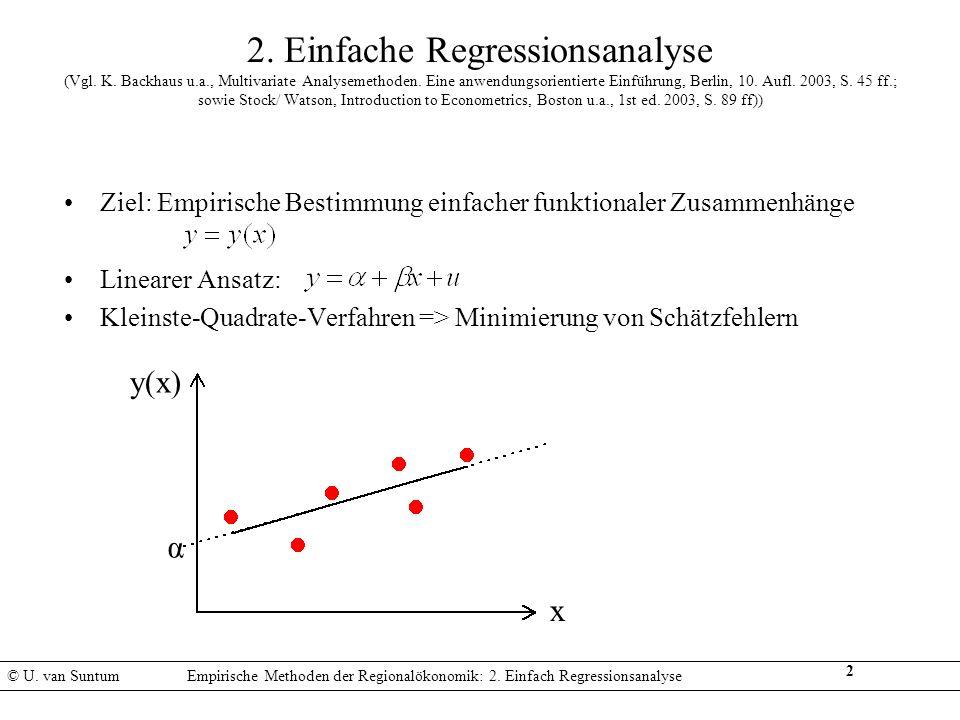 2. Einfache Regressionsanalyse (Vgl. K. Backhaus u. a