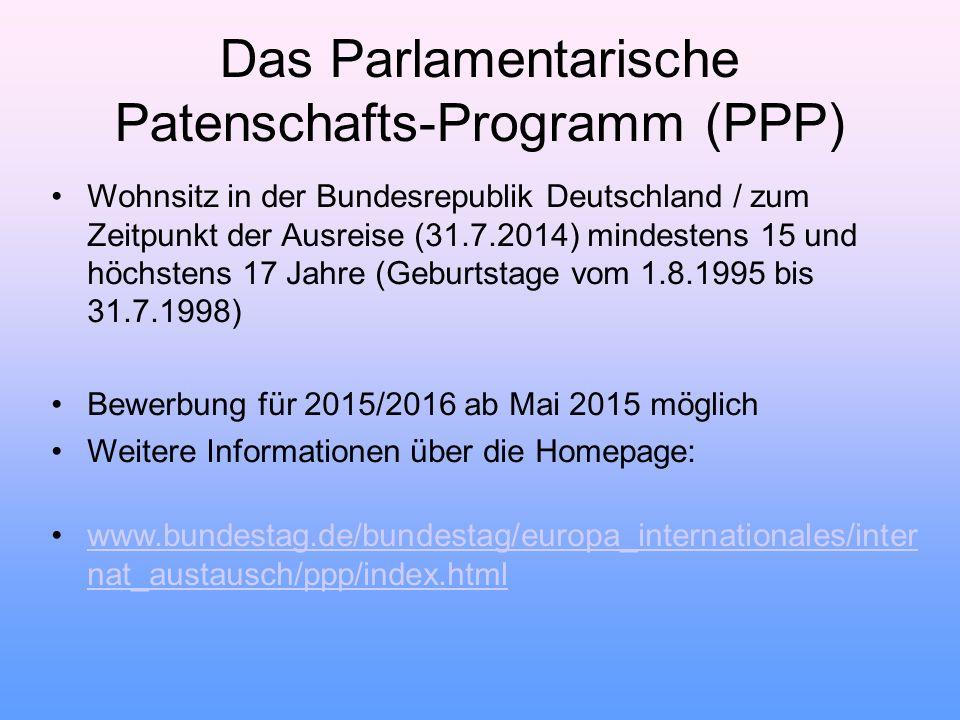 Das Parlamentarische Patenschafts-Programm (PPP)
