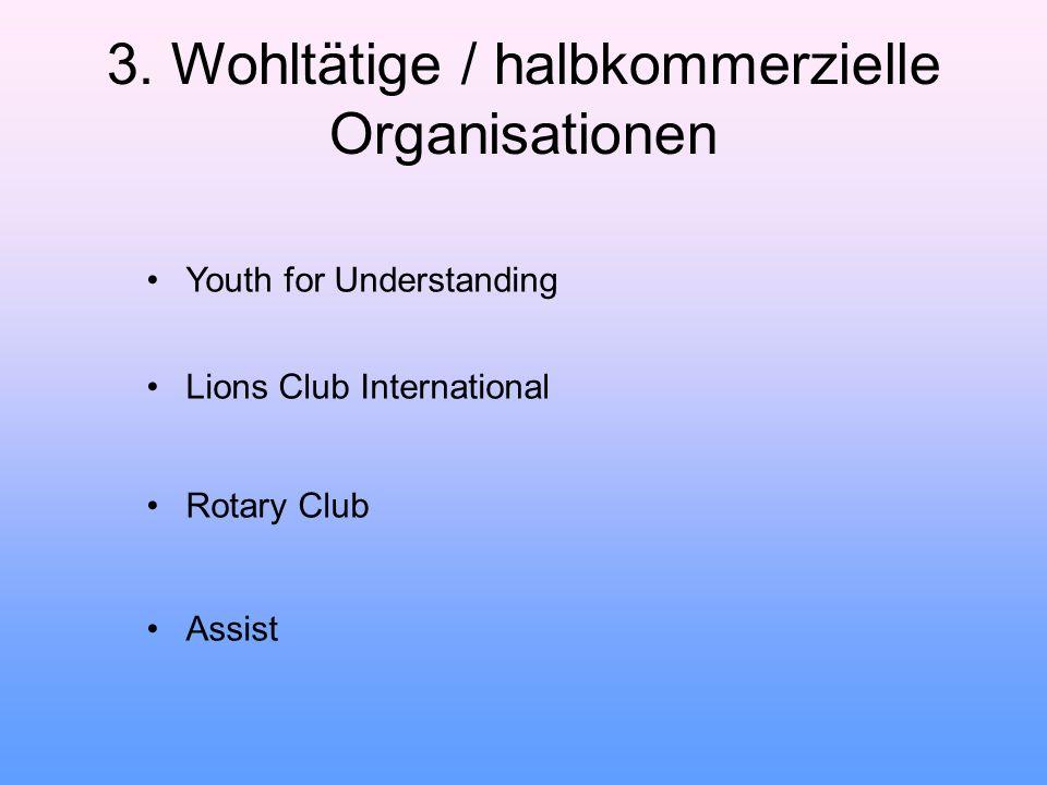 3. Wohltätige / halbkommerzielle Organisationen