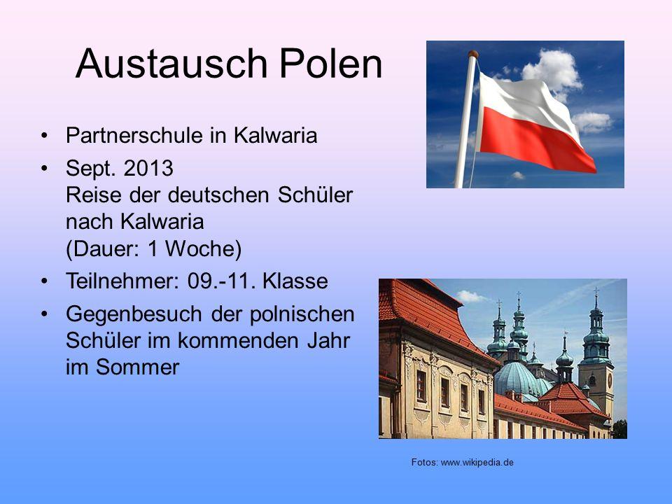 Austausch Polen Partnerschule in Kalwaria