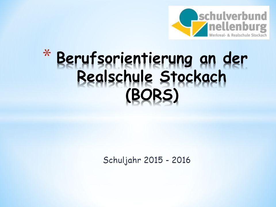 Berufsorientierung an der Realschule Stockach (BORS)