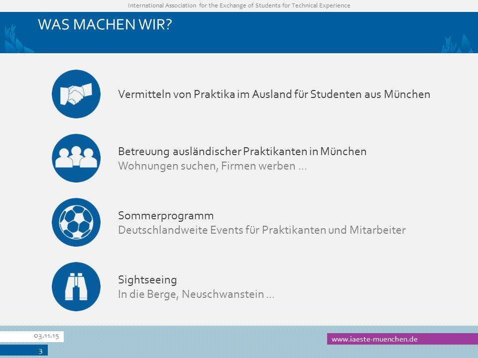 WAS MACHEN WIR Vermitteln von Praktika im Ausland für Studenten aus München. Betreuung ausländischer Praktikanten in München.