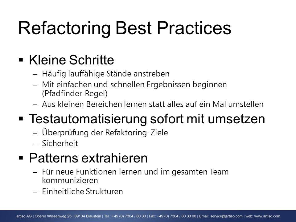 Refactoring Best Practices