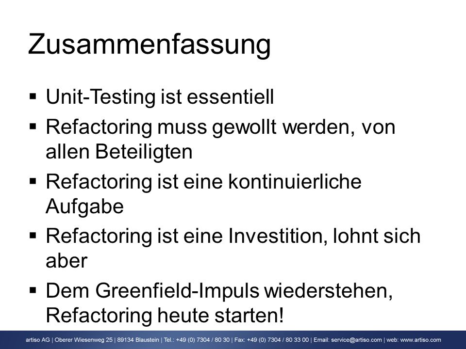 Zusammenfassung Unit-Testing ist essentiell