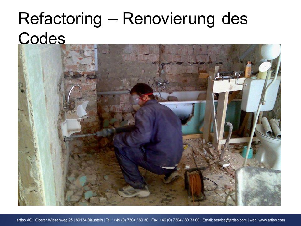 Refactoring – Renovierung des Codes
