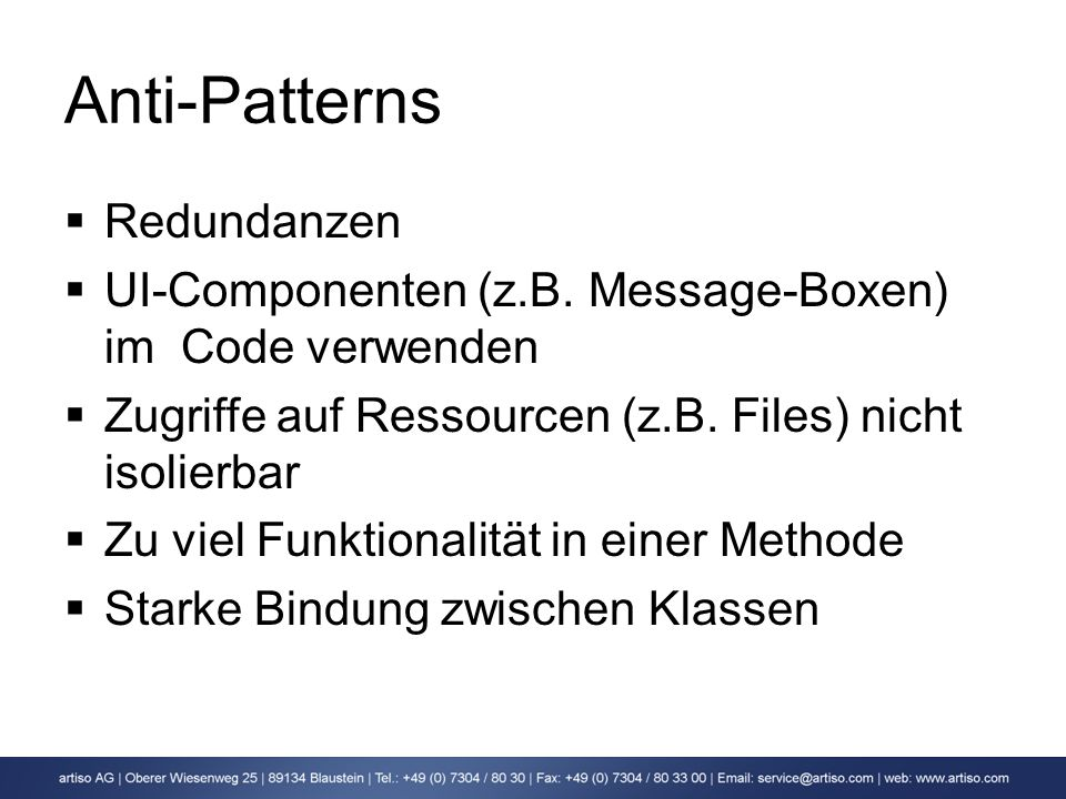 Anti-Patterns Redundanzen