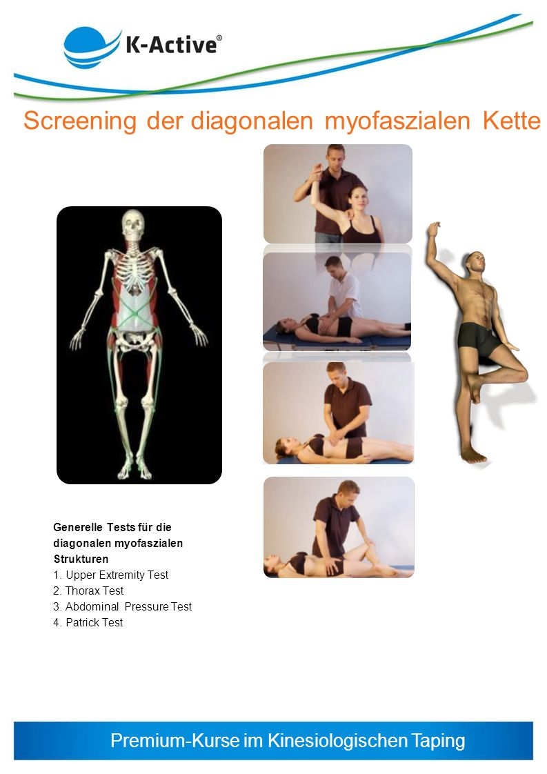 Screening der diagonalen myofaszialen Kette
