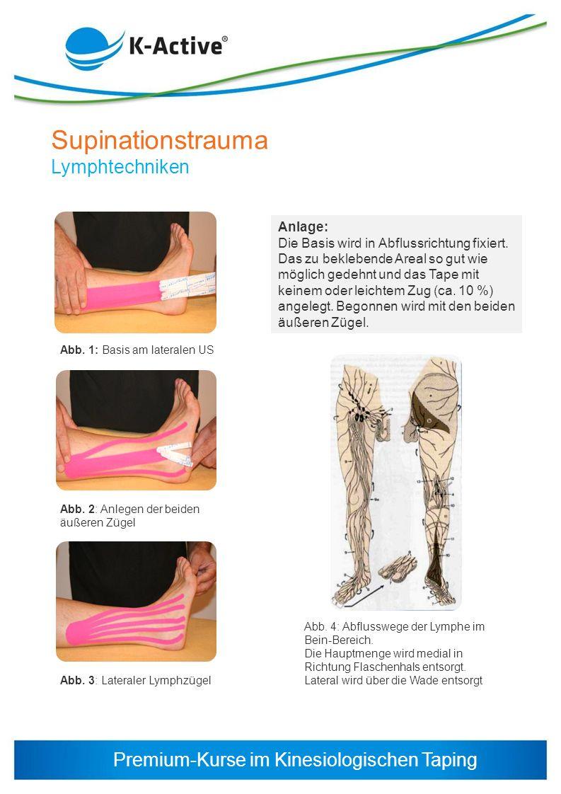 Supinationstrauma Lymphtechniken Anlage: