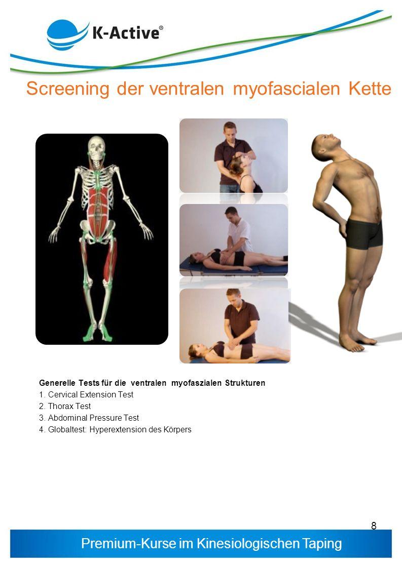 Screening der ventralen myofascialen Kette