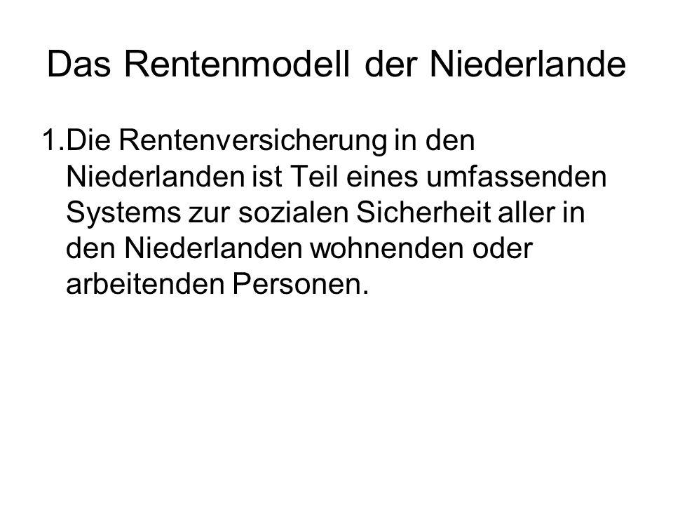 Das Rentenmodell der Niederlande