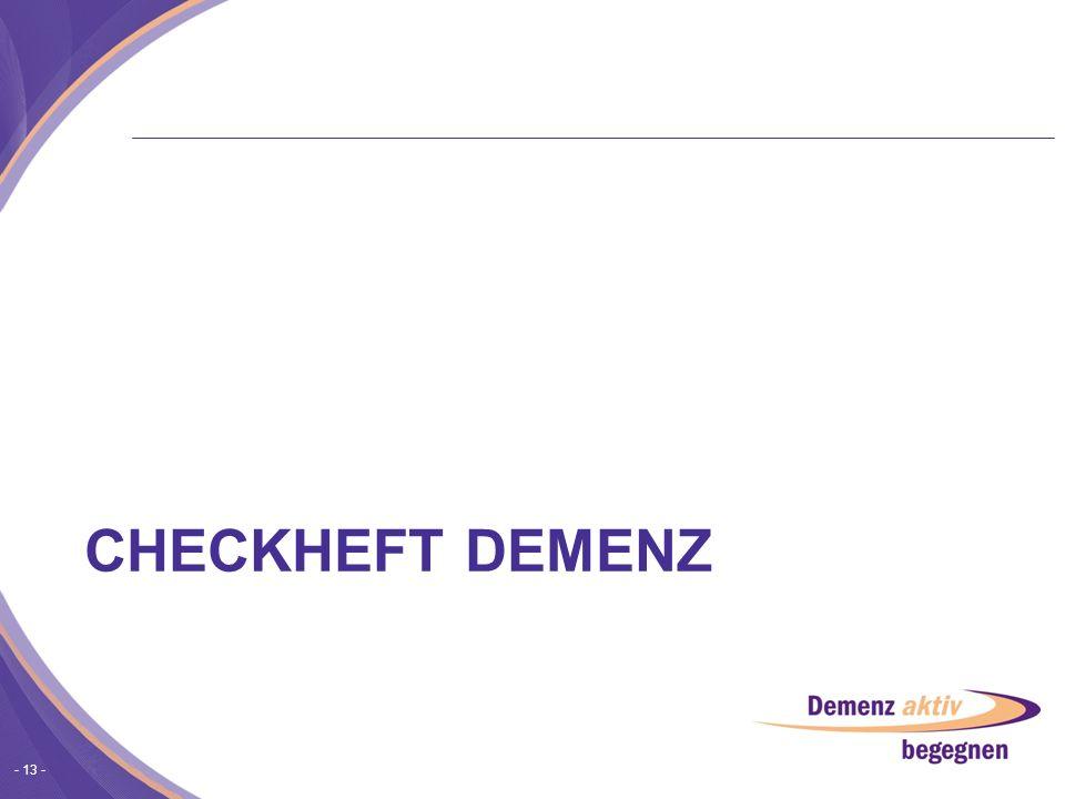 Checkheft Demenz