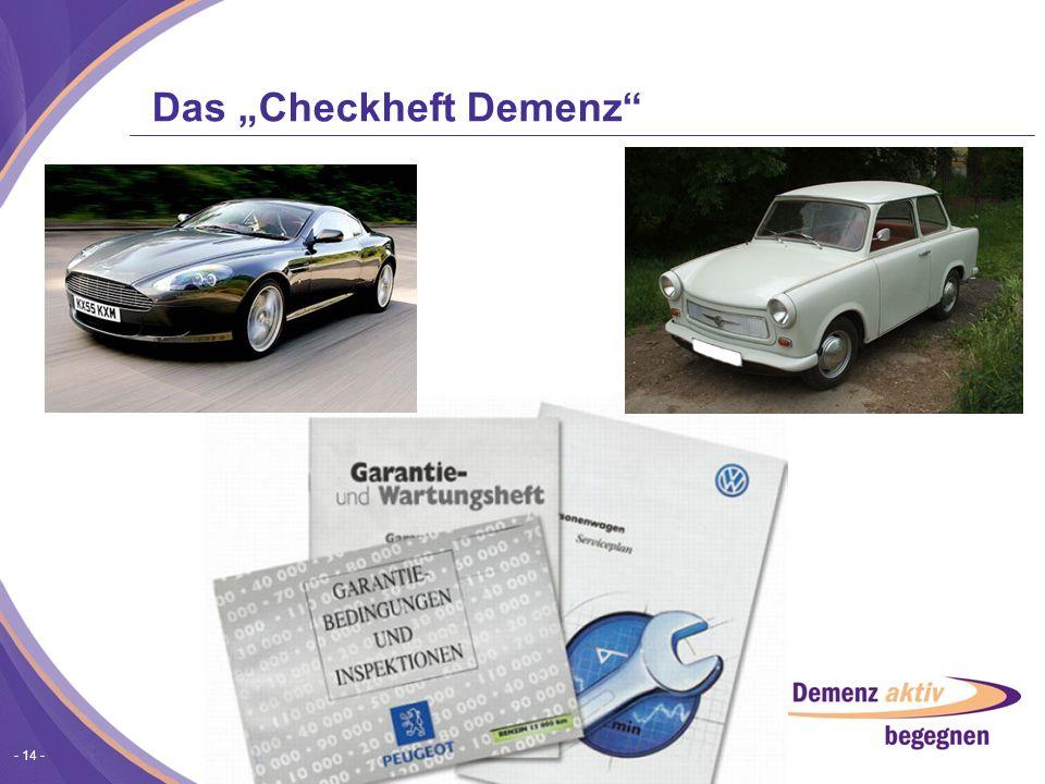 """Das """"Checkheft Demenz"""