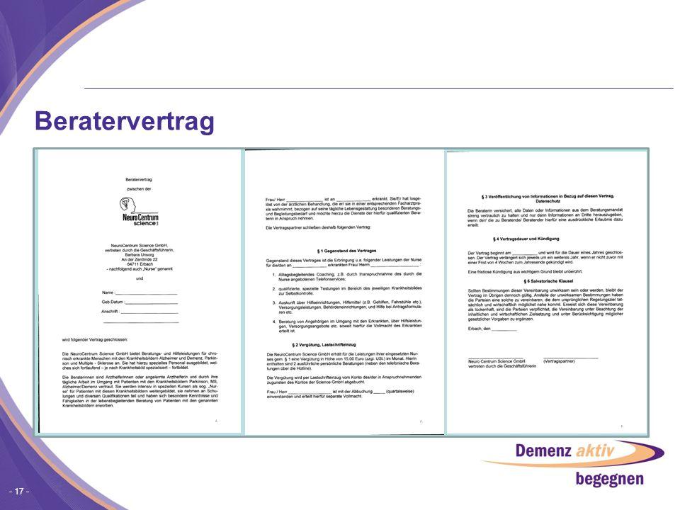 Beratervertrag