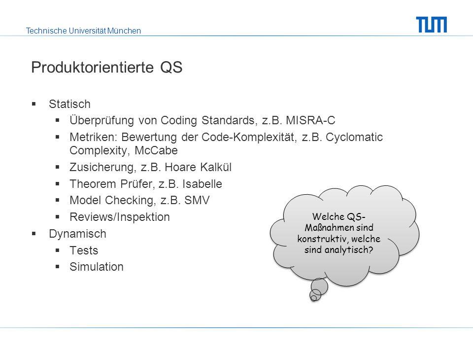 Produktorientierte QS